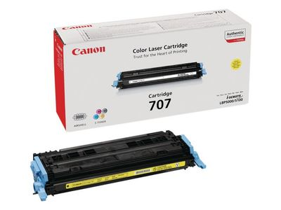 CANON 707 toner cartridge yellow standard capacity 2.000 pages 1-pack (9421A004)