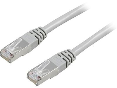 DELTACO FTP Cat.6 patch cable 1m, gray (STP-61)