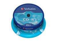 VERBATIM CD-R 80min 700MB DataLife Extra Protection 52xSpeed *25-pack* CakeBox (43432)