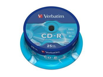 VERBATIM CD-R Verbatim 700Mb 52x spindle (25) (43432)