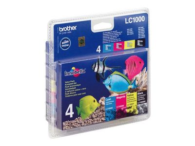 BROTHER LC1000 Valuepack cmyk (LC1000VALBPDR)