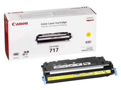 CANON 717 toner cartridge yellow standard capacity 4.000 pages 1-pack (2575B002)