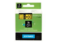 DYMO D1 Tape / 24mm x 7m / Black Text / Yellow Tape (S0720980)