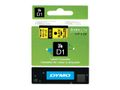 DYMO D1 6mm Black/Yellow labels 43618