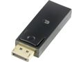 DELTACO Adapter DisplayPort till HDMI 20-pin ha - 19-pin ho