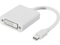 DELTACO mini DisplayPort till DVI-I adapter, ha-ho, 0,05m, vit