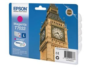 EPSON cartridge L magenta for WP 4000/4500 800 pages WP-4015DN WP-4025DW WP-4515DN WP-4525DNF WP-4535DWF WP-4545DTWF (C13T70334010)