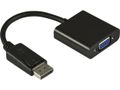 DELTACO DP-VGA7 - DisplayPort adapter - DisplayPort (han) - HD-15 (hun) - 20 cm - sort - for Apple MacBook Ma...