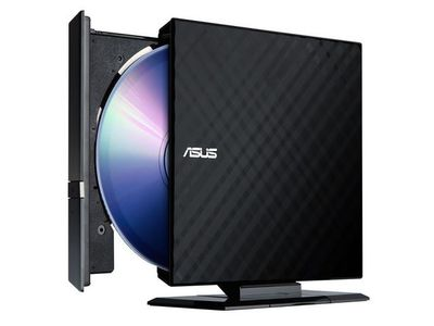 ASUS SDRW-08D2S-U LITE BLACK EXTERNAL 8X SLIM DVD RECORDER IN (90-DQ0435-UA221KZ)