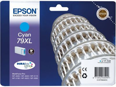 EPSON INK CARTRIDGE T79024010 2000 PAGES CYAN (C13T79024010)