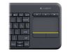 LOGITECH Wireless Touch Keyboard K400 Plus Nordisk (sv/ no/ fi/ dk) (920-007141)