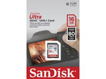 SANDISK SDHC Ultra 16GB 80MB/s UHS-I Class10