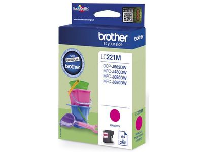 BROTHER INK CARTRIDGE MAGENTA 260 PAGE (LC221M)