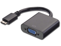 MICROCONNECT HDMI Mini - VGA adapter - Videokonverter - HDMI - VGA - svart
