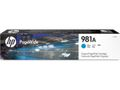 HP INK CARTRIDGE 981A CYAN . SUPL