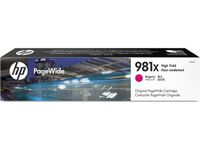 HP INK CARTRIDGE 981X MAGENTA HIGH YIELD SUPL