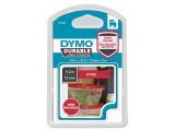 DYMO D1 Durable 12 mm x 3 M, White on Red