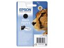 EPSON T0711 ink cartridge black standard capacity 7.4ml 1-pack blister without alarm