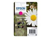 EPSON 18 ink cartridge magenta standard capacity 3.3ml 180 pages 1-pack blister without alarm