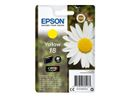 EPSON 18 ink cartridge yellow standard capacity 3.3ml 180 pages 1-pack blister without alarm