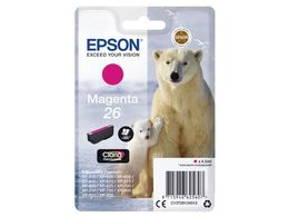 EPSON 26 ink cartridge magenta standard capacity 4.5ml 300 pages 1-pack blister without alarm