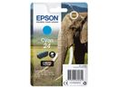EPSON 24 ink cartridge cyan standard capacity 4.6ml 360 pages 1-pack blister without alarm