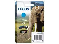 EPSON 24 ink cartridge cyan standard capacity 4.6ml 360 pages 1-pack blister without alarm (C13T24224012)