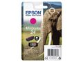 EPSON 24 ink cartridge magenta standard capacity 4.6ml 360 pages 1-pack blister without alarm