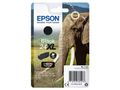 EPSON 24XL ink cartridge black high capacity 10ml 500 pages 1-pack blister without alarm