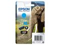 EPSON 24XL ink cartridge cyan high capacity 8.7ml 740 pages 1-pack blister without alarm