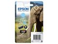 EPSON 24XL ink cartridge light cyan high capacity 9.8ml 740 pages 1-pack blister without alarm