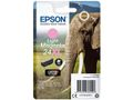 EPSON 24XL ink cartridge light magenta high capacity 9.8ml 740 pages 1-pack blister without alarm