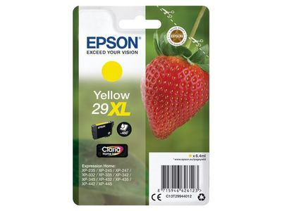 EPSON Singlepack Yellow 29XL Claria Home Ink (C13T29944012)