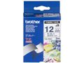 12MM Blue On White Fabric Tape / BROTHER (TZEFA3)