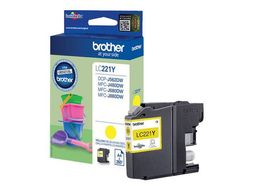 BROTHER INK CARTRIDGE YELLOW 260 PAGES FOR MFC-J880DW SUPL (LC221Y)