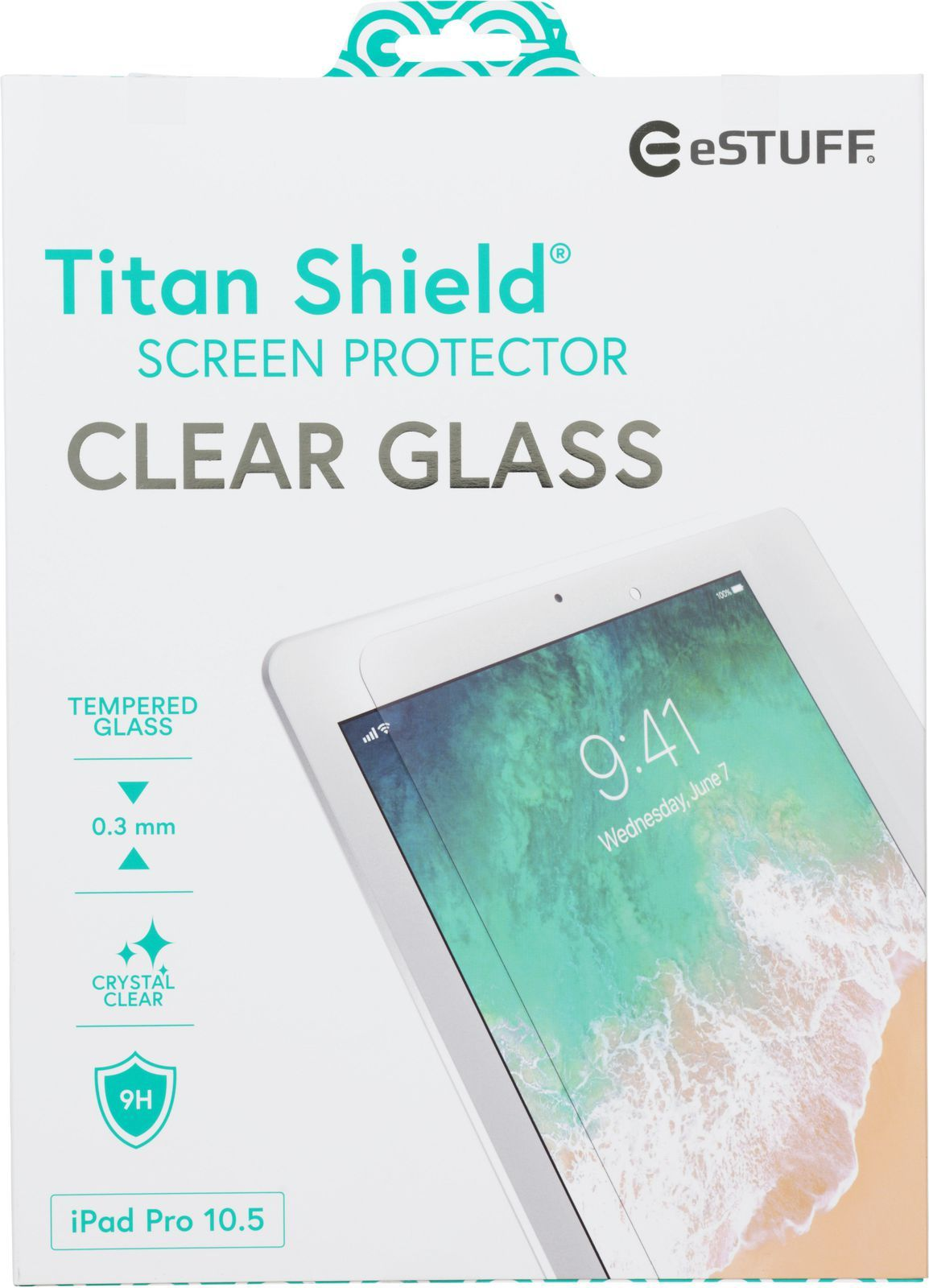 eSTUFF Titan Shield - Skjermbeskyttelse - blank - for Apple 10.5-inch iPad Pro (ES503300)
