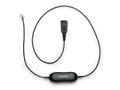 JABRA Smart Cord QD to RJ10 straight 0.8 meters with 8-position switch configurator for STD Headsets