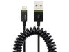 LEITZ Complete Coilled Lightin Cable to USB 1m Black