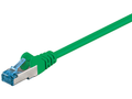 MICROCONNECT S/FTP CAT6A 0.25M GREEN LSZH