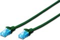 DIGITUS Premium CAT 5e UTP patch cable, Length 1, Color green
