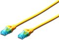 DIGITUS Premium CAT 5e UTP patch cable, Length 1, Color yellow