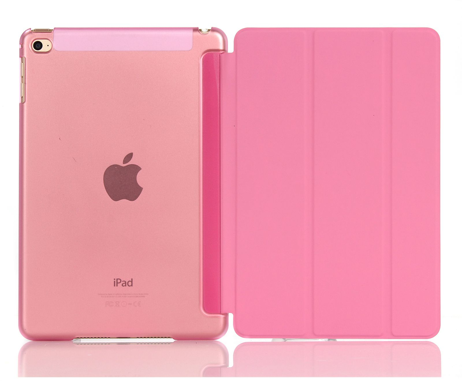 eSTUFF Smart Cover - Skjermdeksel for nettbrett - rosa - for Apple 9.7-inch iPad Pro; iPad Air (ES681024)