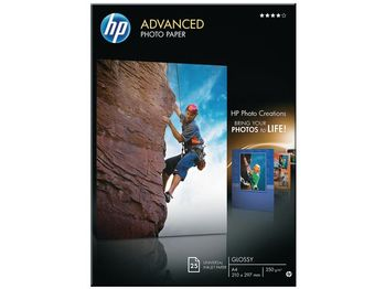 HP Advanced fotopapir glittet 25 ark, A4, 210 x 297 mm (Q5456A)