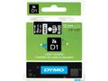 DYMO D1 12mm White/Black labels 45021
