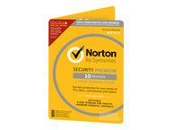 NORTON SECURITY PREMIUM 3.0 25GB 1 USER 10 DEVICES 12MO CARD DVDSLV RET (ND)