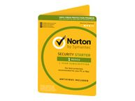 NORTON SECURITY STARTER 3.0 1 USER 1 DEVICE 12MO CARD DVDSLV RET (ND)