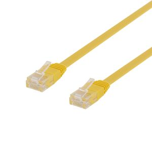 DELTACO Flat TP Cable Cat6 30cm Yellow (TP-603GL-FL)