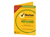 SYMANTEC NORTON SECURITY STARTER 3.0 1 USER 1 DEVICE 12MO GENERIC CARD DVDSLV ATTACH (ND) (21358818)