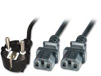 MICROCONNECT Power Y-Cord 1.8m Black IEC320 (PE011318)