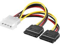 MICROCONNECT SATA Power 4pin-2x15pin 0,2m (PI01092)